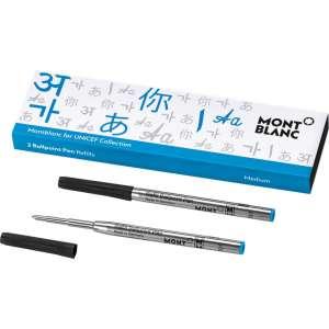 Kugelschreiberminen M (2 Stk.) Unicef blau 2017
