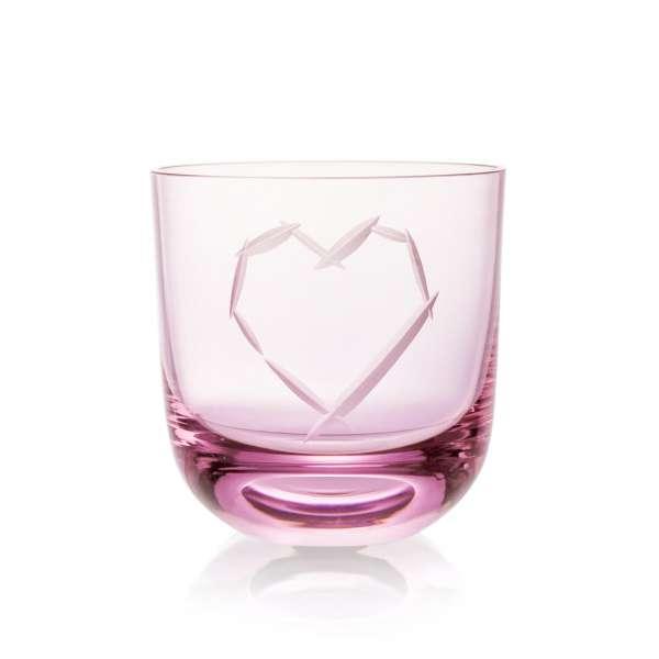 Glas Love I 0,2 l pink