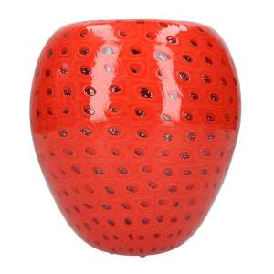 Vase 19 cm Murrine koralle/kristall