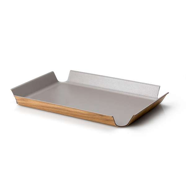 Tablett 41x29,5 cm taupe metallic