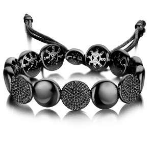 Armband breit Schwarz Zirkonia Sterlingsilber