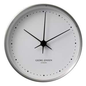Uhr 15 cm Stahl/weiß