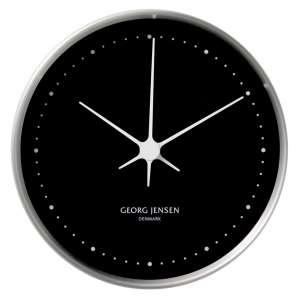 Uhr 10 cm chrom/schwarz