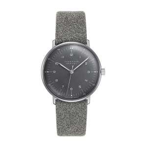 Armbanduhr Max Bill Handaufzug grau
