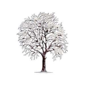 Winterbaum mit Rauhreif 15x12 cm