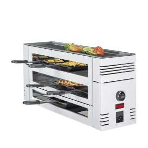 Pizza Raclette6 weiß mit Alugrillplatte EU