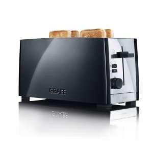 Toaster TO 102 schwarz matt