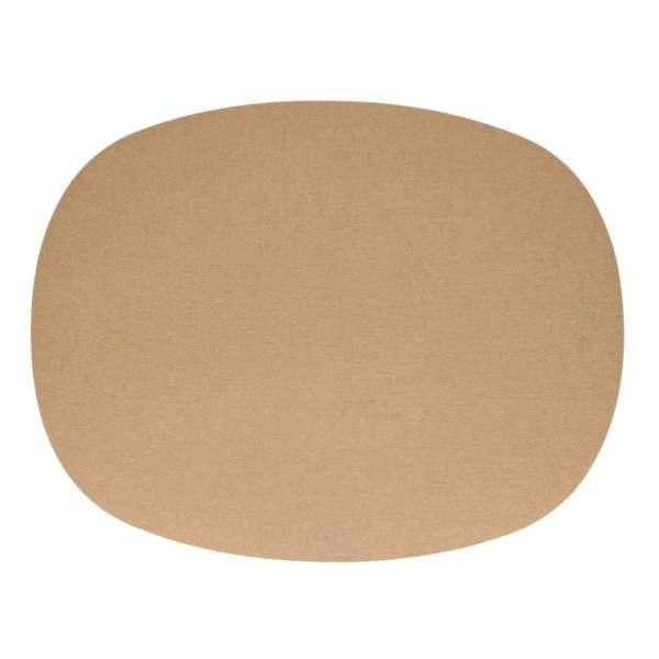 Tischset oval 45x35 cm karamell 38