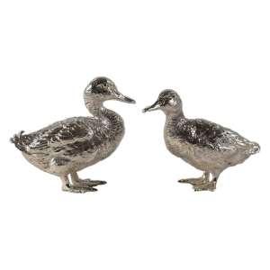 Entenpaar klein Sterlingsilber massiv