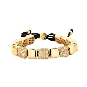 Armband gold Zirkonia Sterlingsilber