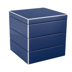 Schmuckbox stapelbar windsor blau