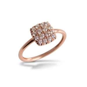 Ring Weißgold 750/- Diamanten 0,32 ct G SI W58