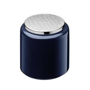 Teedose 13 cm blau versilbert