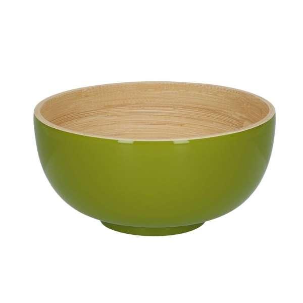 Schüssel 18 cm Lack olive