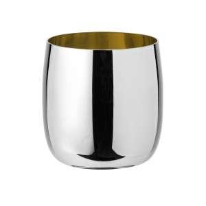 Weinbecher 0,20 l, Edelstahl - golden