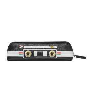 Etui für 2 Schreibgeräte m. Reißverschluss Tape