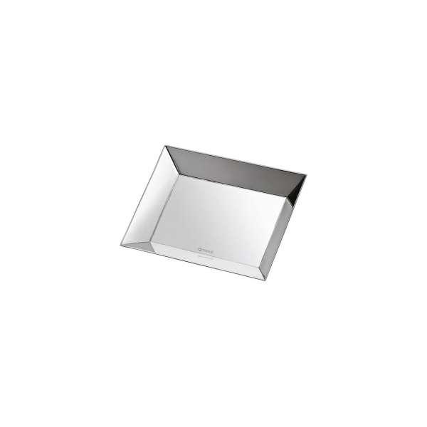 Schale 17x11,3 cm versilbert