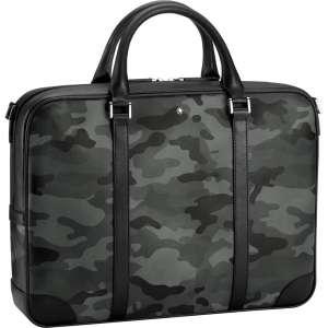 Dokumententasche Sartorial Camouflage grau
