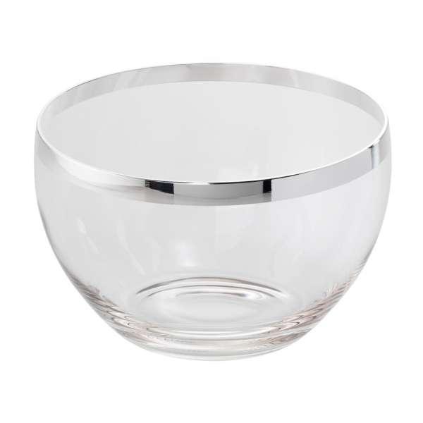 Schale 26 cm Kristall/versilbert