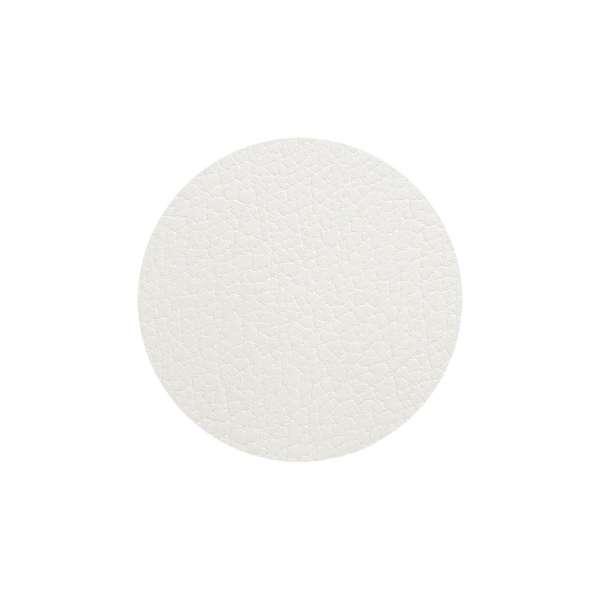 Glas Untersetzer 10 cm Bull weiß