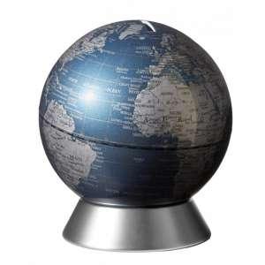 Globus Spardose blau
