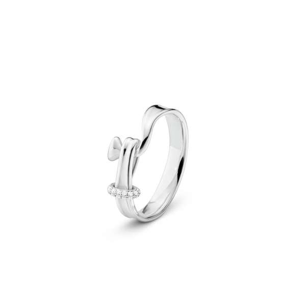 Ring W55 Diamanten 0,06 ct Sterlingsilber 925
