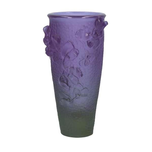 Vase 26 cm violett/grün