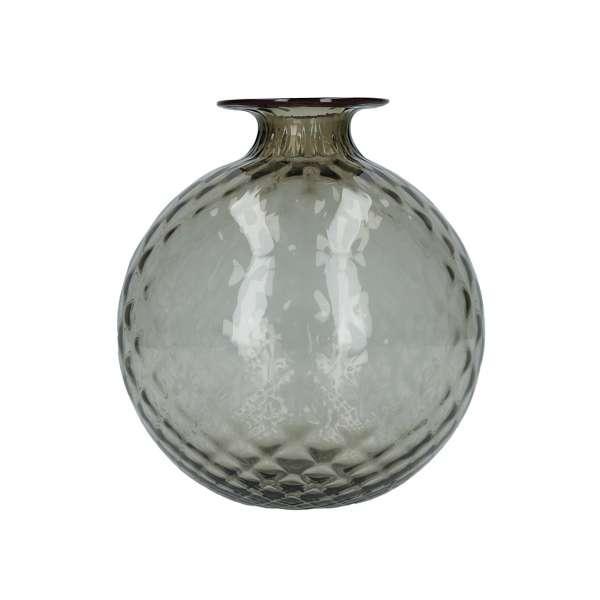 Vase 24,5 cm grau/roter Faden