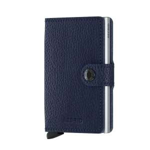 Miniwallet Vegetable Tanned navy/silver