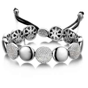 Armband breit Silber Zirkonia Sterlingsilber