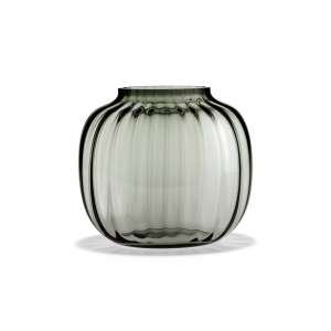 Vase oval 17,5 cm smoke