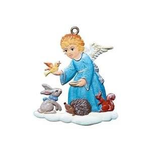 Engel mit Tieren 5,5x4,5 cm