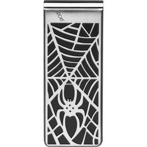Geldscheinklammer Spinnennetz Edelstahl