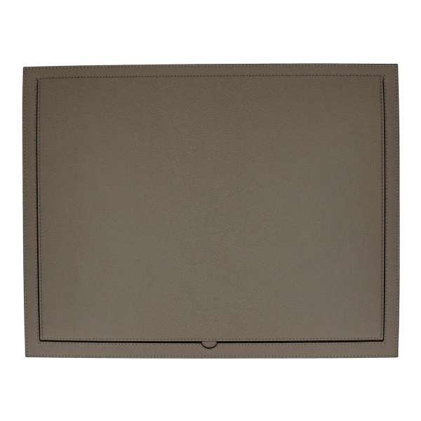 Schreibtischauflage aufklappbar 38,5x50 cm, Golf schlamm, Naht schlamm