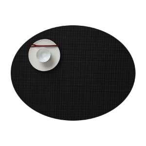 Tischset oval 36x49 cm schwarz