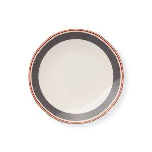 Frühstücksteller 24 cm anthrazit/rot