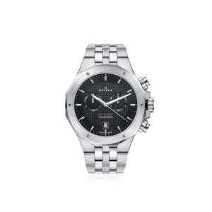 Armbanduhr Delfin Chronograph stahl/schwarz Quarz