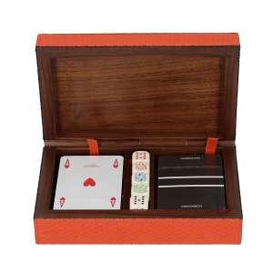 Spielkartenbox, Bellagio mango, Naht mango