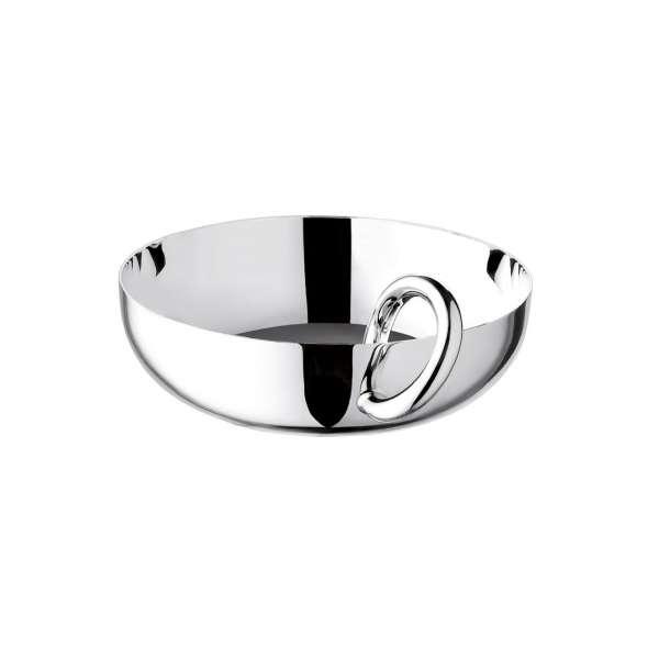 Schale mit Ring 12 cm versilbert
