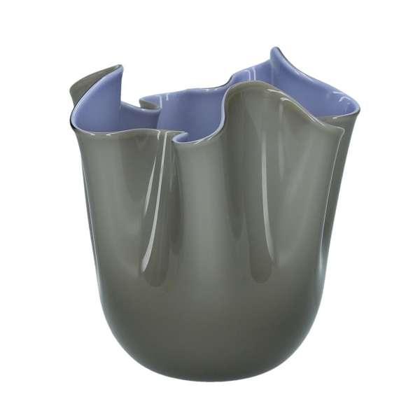 Vase 13,5 cm grau/indigo
