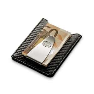 Kreditkartenetui mit Geldscheinklammer schwarz Carbonfaser