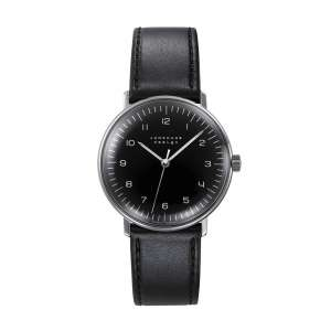 Armbanduhr Max Bill Handaufzug schwarz