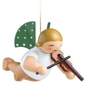 Engel m. Geige, schwebend