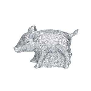 Schweinchen, Glimmer silber