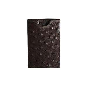 Kreditkartenetui RFID geprägtes Leder braun