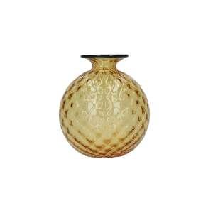 Vase 12,5 cm amber gelb/horizont Faden
