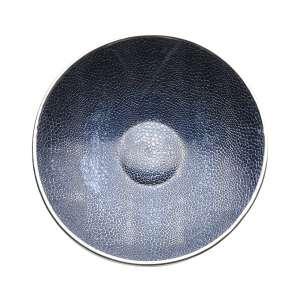Schale Crocco 34 cm blau versilbert