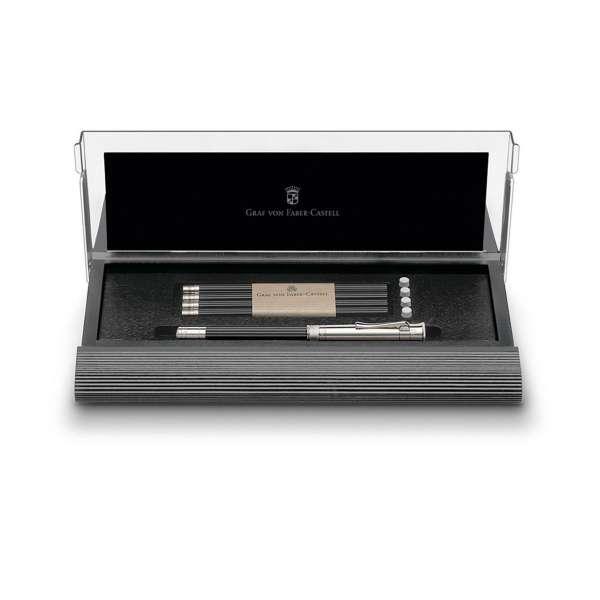 Cassette schwarz m. perf. Bleistift platiniert
