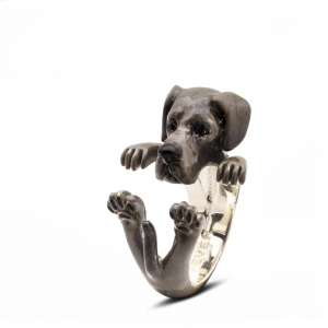Ring Spanische Dogge 925/- Sterling Silber L
