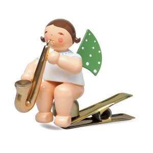 Engel m. Saxophon, auf Klemme